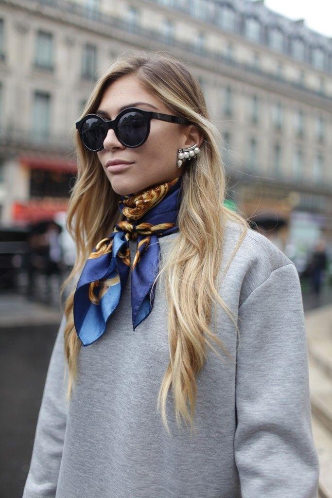 بإمكان الوشاح الحريري أن يضيف كلاسيكية لإطلالتك العصرية