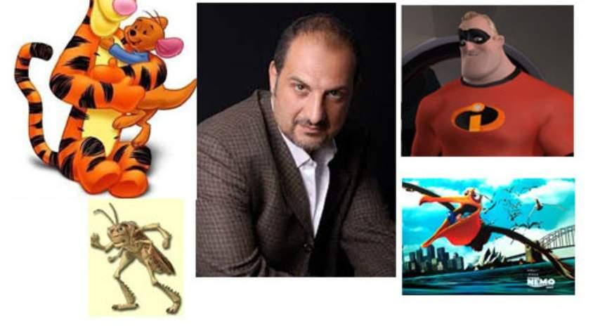 خالد الصاوي بأداء العديد من الاصوات مثل نمور في winne the poohوناجيل في فيلم البحث عن نيمو