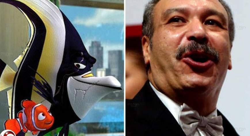 خالد صالح قام بدور السمكة جل في فيلم البحث عن نيمو