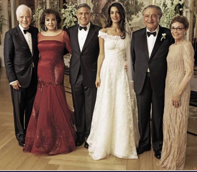زفاف جورج كلوني وأمل علم الدين.