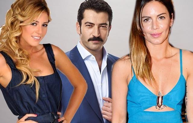 كينان أميرزالي أوغلو يتوسط حبيبته السابقة عارضة الأزياء إيليز وحبيبته الحالية الممثلة سنيم كوبال