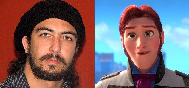 مصطفى رشاد وشخصية هانس في فيلم frozen