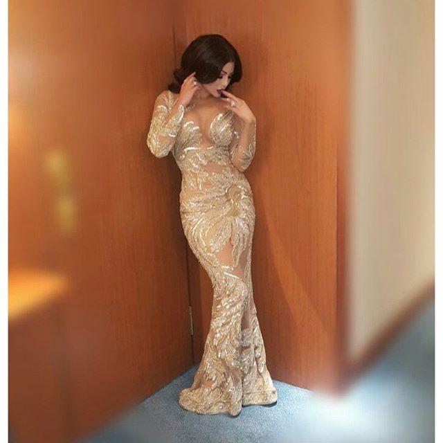 هيفاء وهبي تتألق بفستان من تصميم زهير مراد