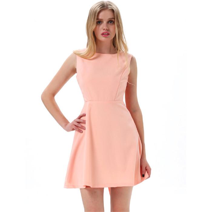 2014_Women_New_Fashion_Pink_Round_Neck