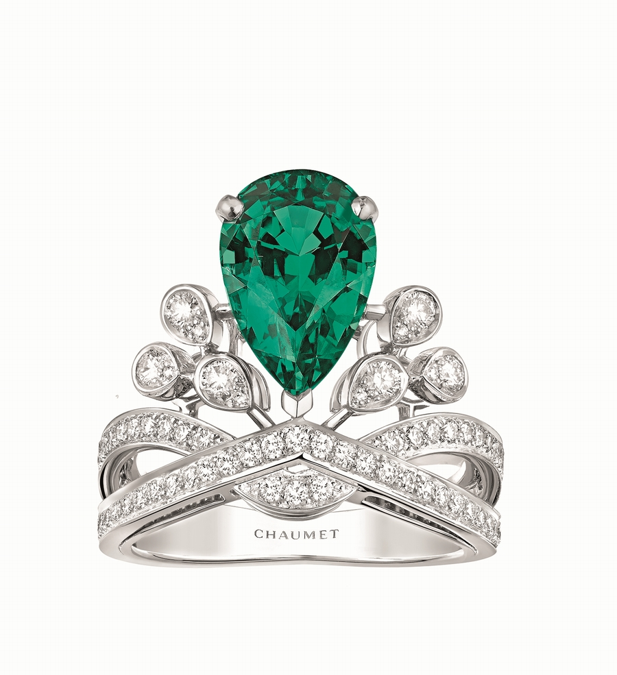 Chaumet - Aigrette Impériale Joséphine emerald ring