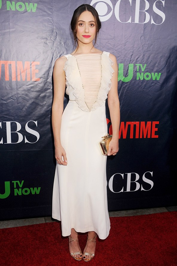 Emmy Rossum in Alessandra Rich