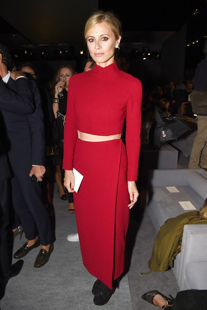 Laura Bailey wore  Emilia Wickstead  at Tom Ford show