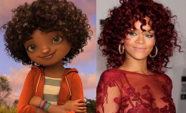 Rihanna وشخصية tyeb من فيلم Home