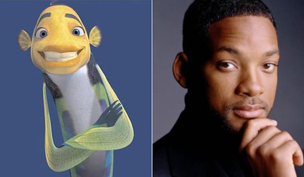 Will Smith وشخصية Oscar في فيلم shark tale