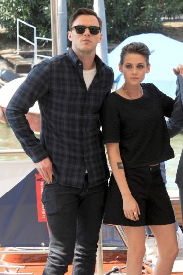 Kristen Stewart, Nicholas Hoult, and Drake Doremus attend the