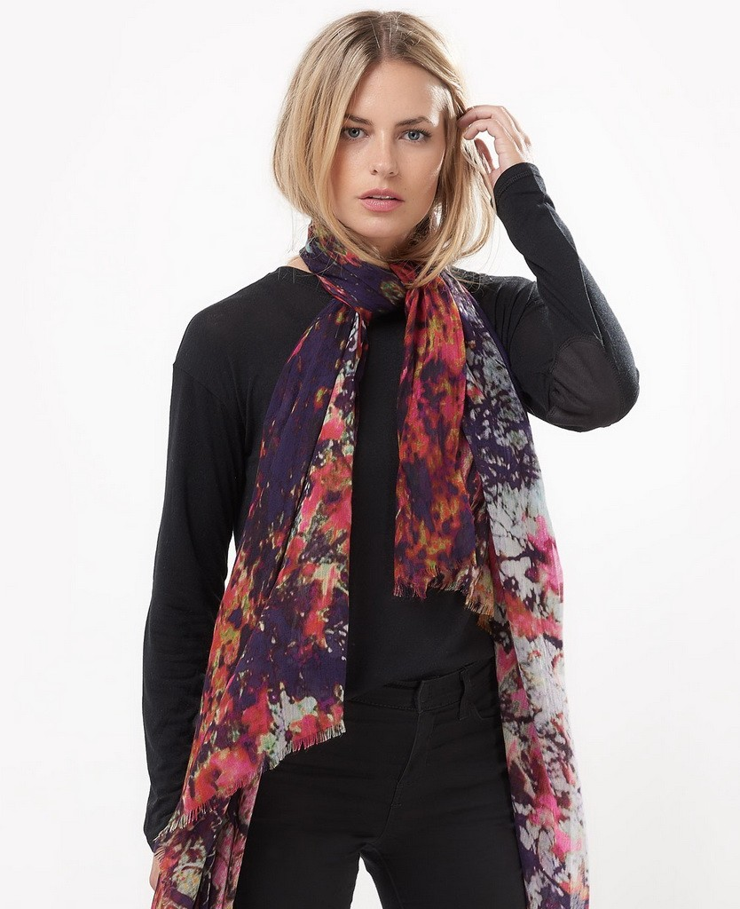 lily-and-lionel-silas-rouge-modal-silk-scarf-model