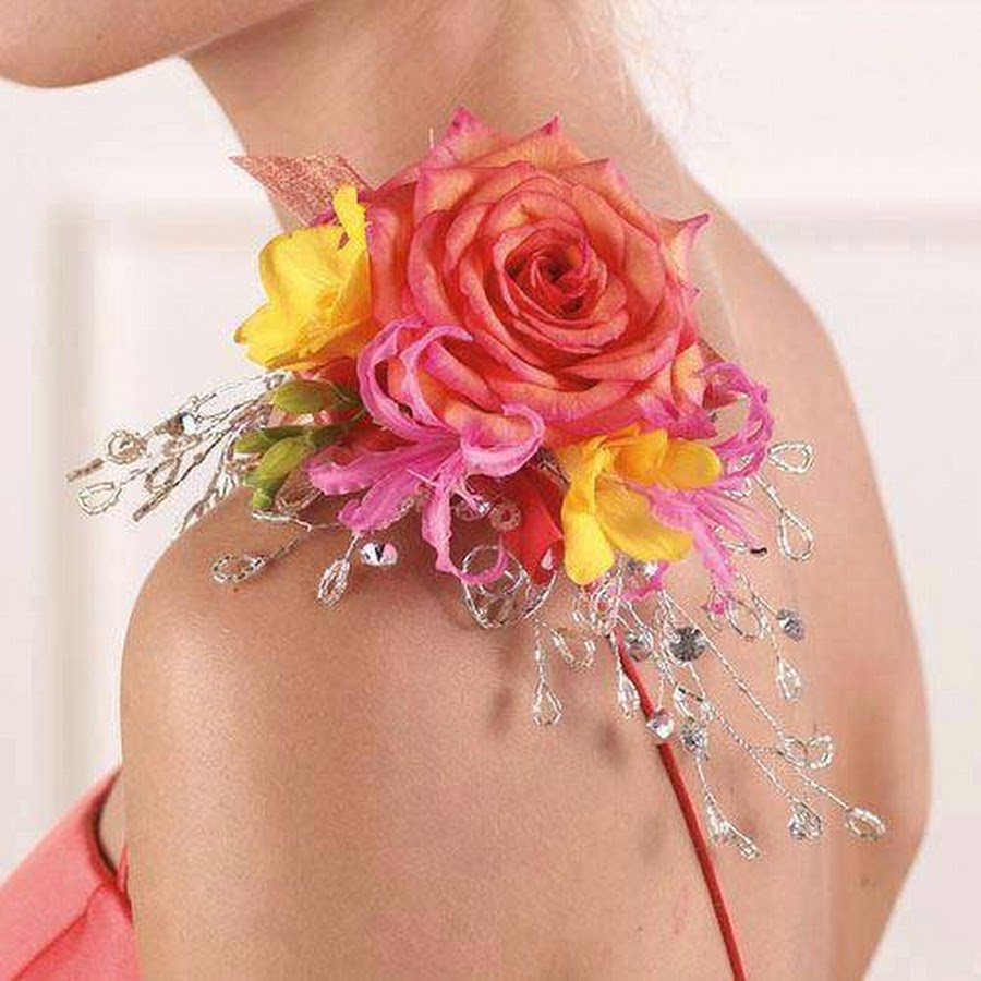 other ways of wearing flower corsage