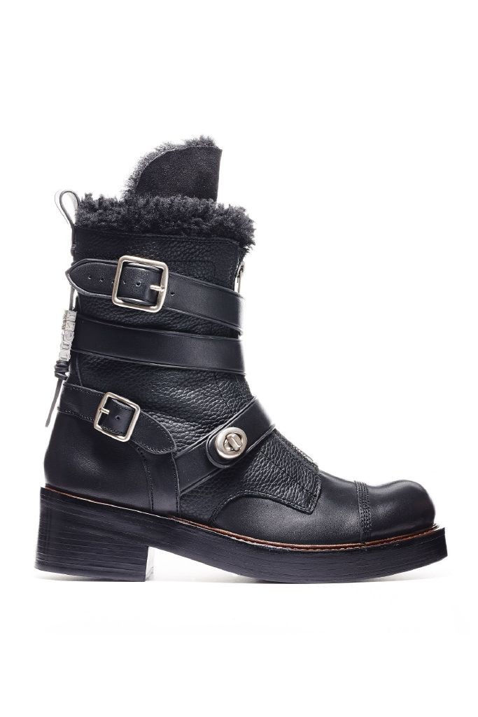 resized_Coach Women's FW15-16_Q7936 Zip Shearling Moto Boot - Black (produced in smooth leather)