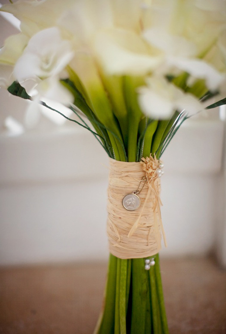 wedding-bouquets-hand-tied-wrapped-straw-with-coin-accent