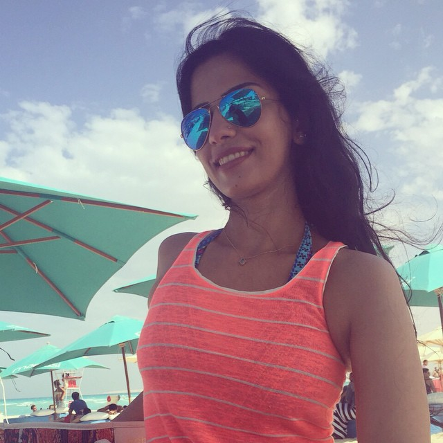 أميرة هاني تستمتع بالصيف