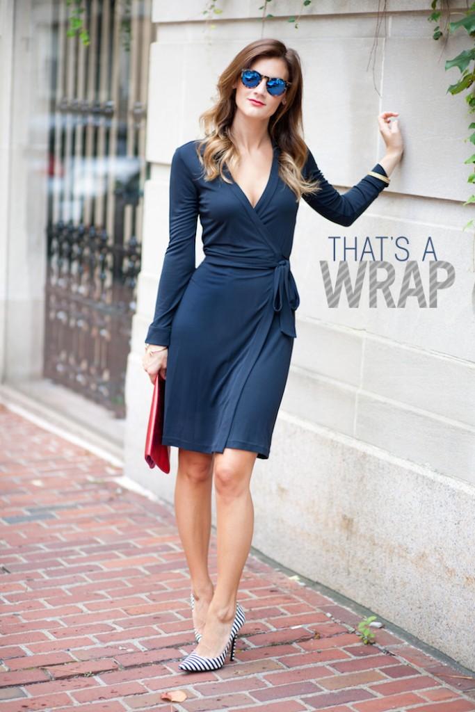 الفساتين الملفوفة أساسية لتبرزي خصرك