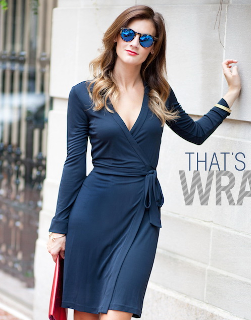 الفساتين الملفوفة أساسية لتبرزي خصرك.