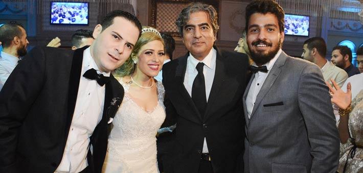 النجوم يشاركون ناصر سيف فرحته بزواج ابنته (11)