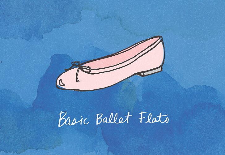 حذاء بسيط بدون كعب مثل أحذية الباليه