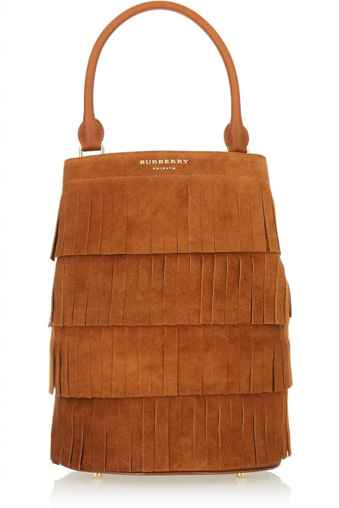 حقيبة مع شراشيب من بربري برورسوم