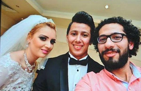 عمرو جمال في زفافه
