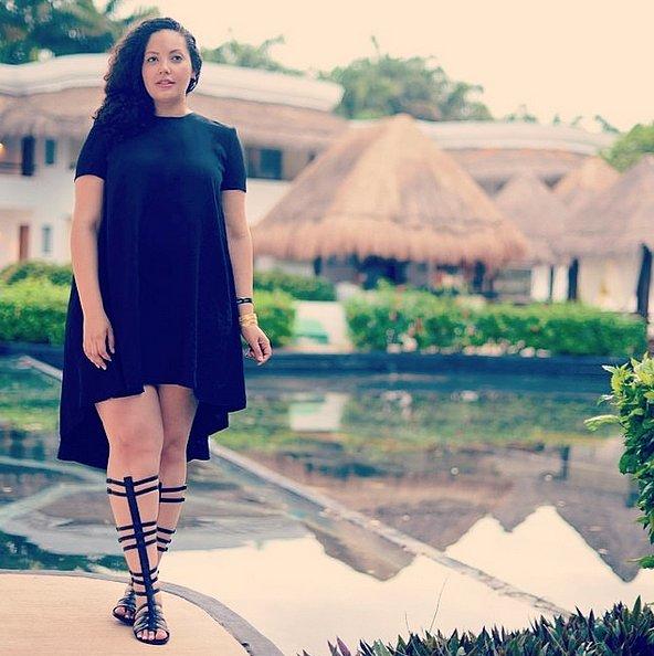 فستان أسود قصير4