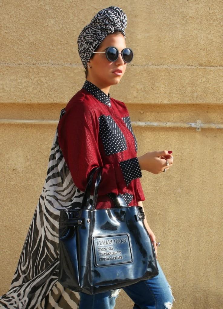لوك عصري من تنسيق مدونة الموضة فرح امارا