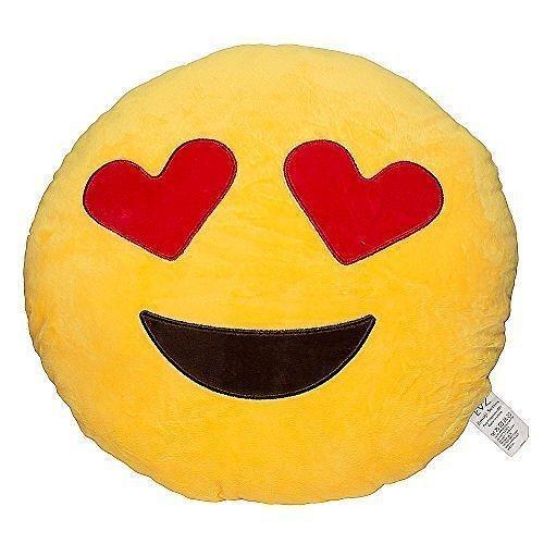 وسادة صفراء على شكل تعبير أحبك