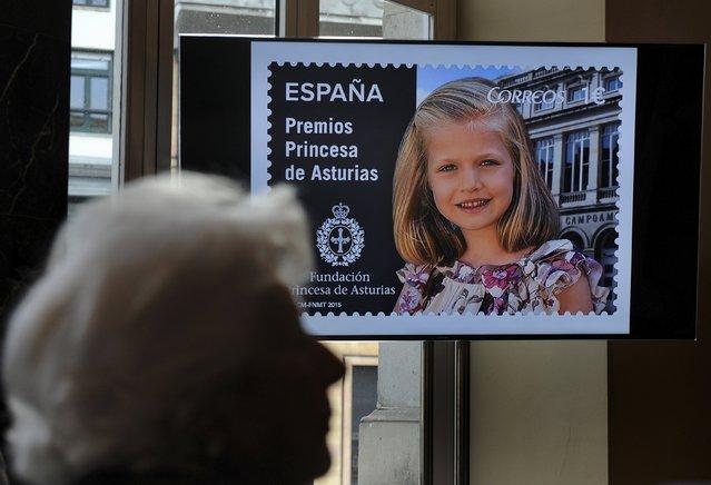 طابع يحمل صورة الأميرة ليونور
