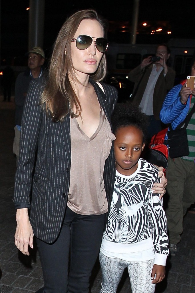 Angelina Jolie, Maddox and Zahara at LAX - Part 2 **USA ONLY**