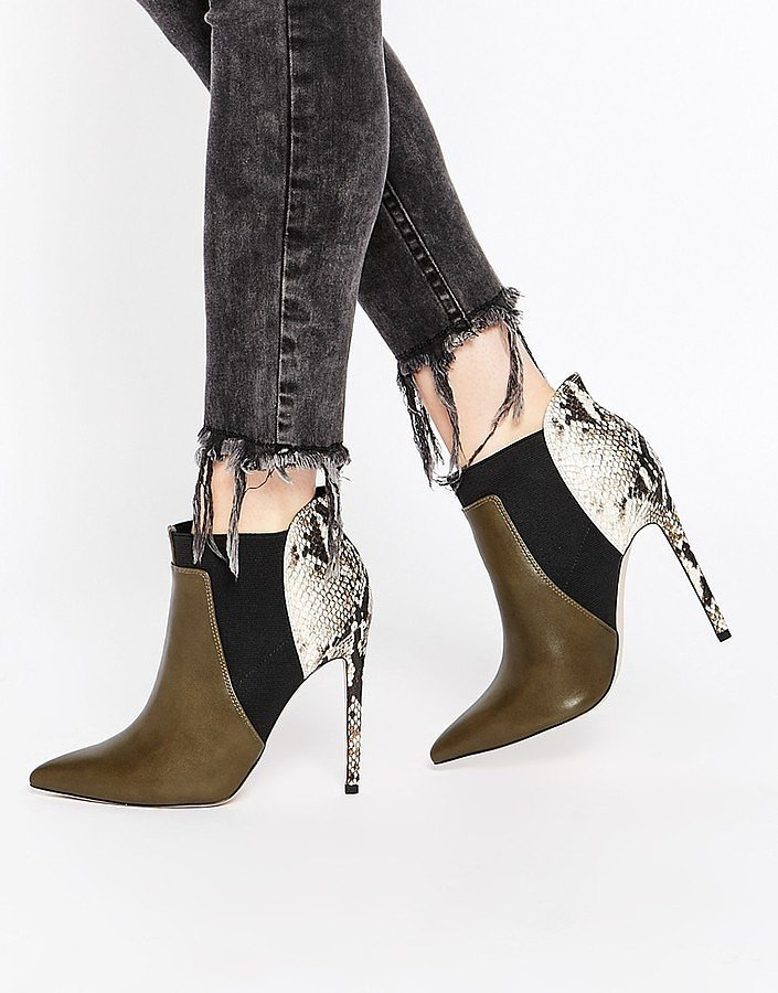 ASOS Patched Ankle Boots