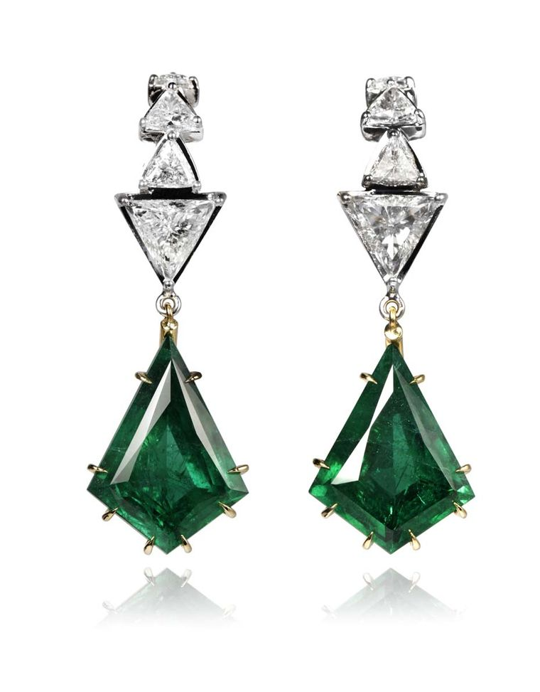 Ara Vartanian_Emerald earrings with diamonds