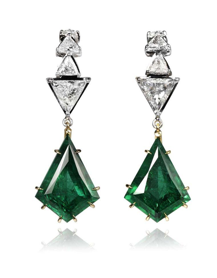 Ara Vartanian_Emerald earrings with diamonds