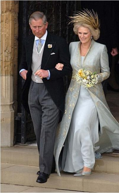 Camilla Parker Bowles on her wedding