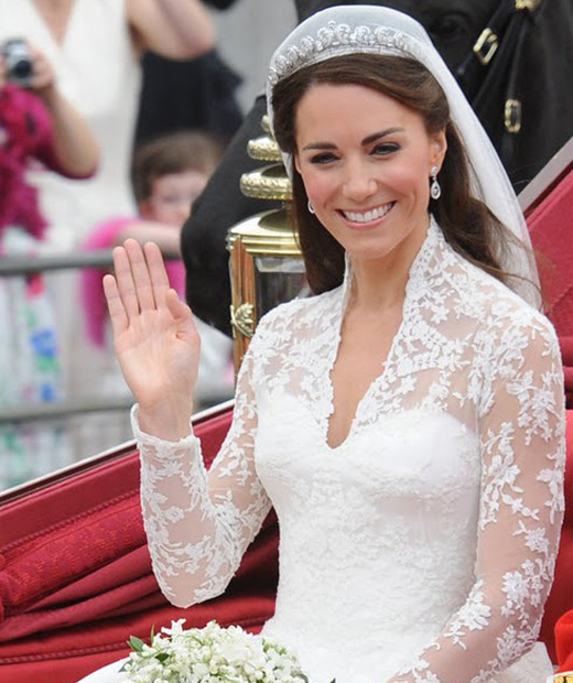 Catherine Middleton on her wedding