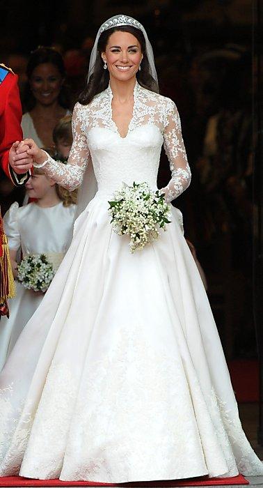 Catherine Middleton on her wedding1