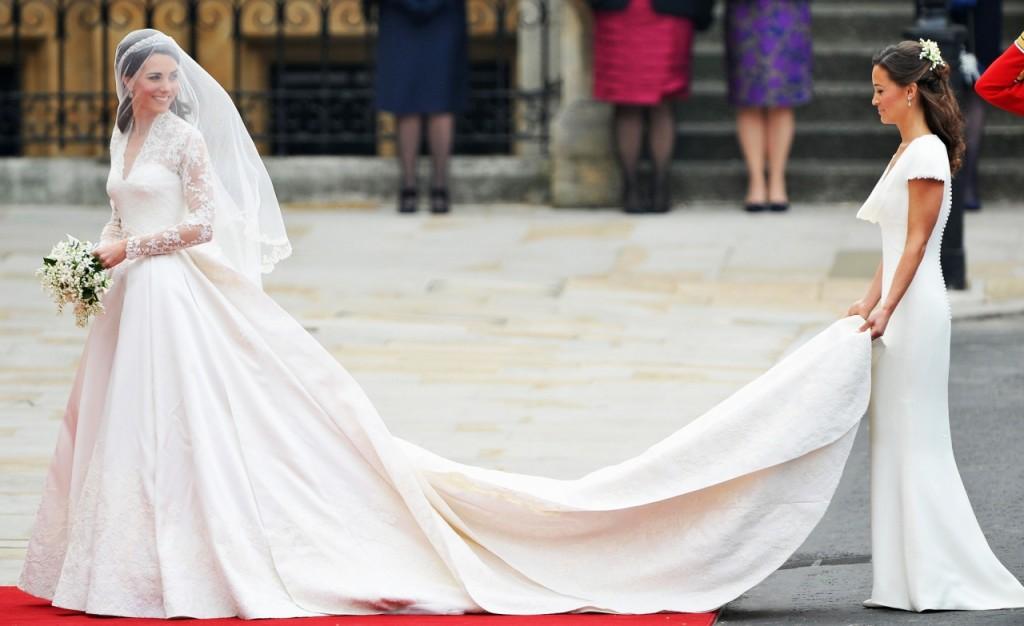 Catherine Middleton on her wedding2