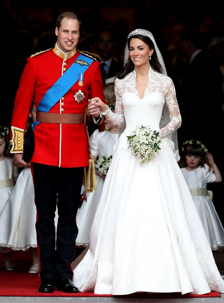 Catherine Middleton on her wedding4