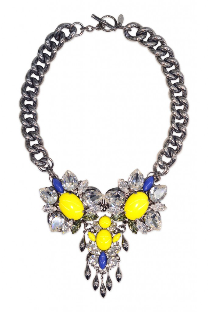 Colorblocked Crystal Necklace