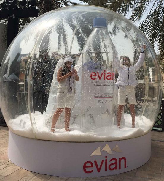 FFWD snow globe Evian