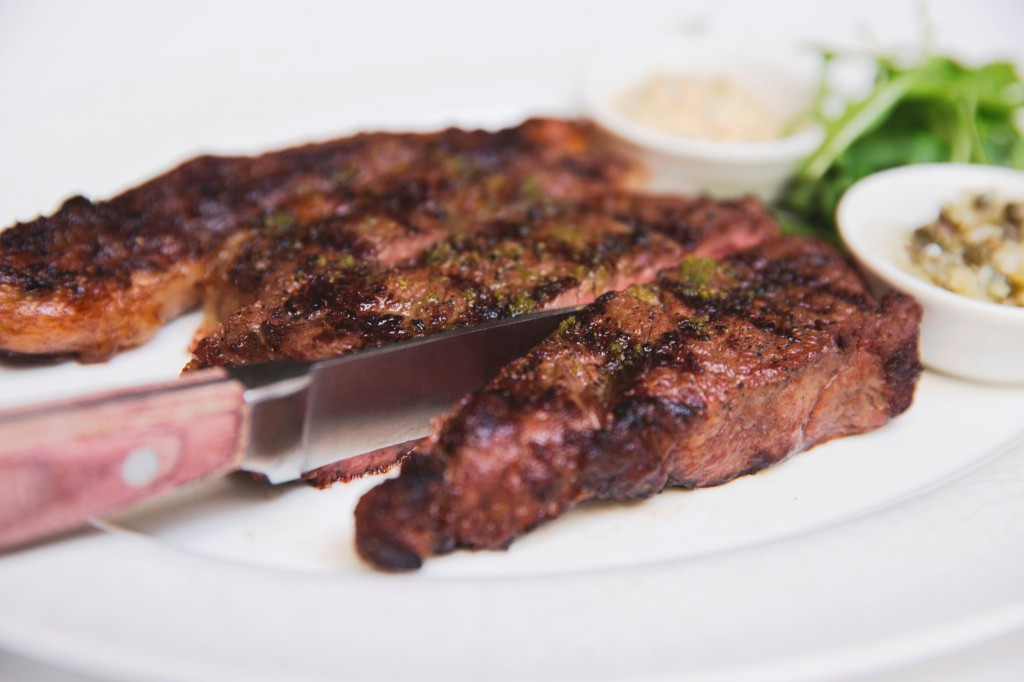 Grilled Rib eye steak 400g
