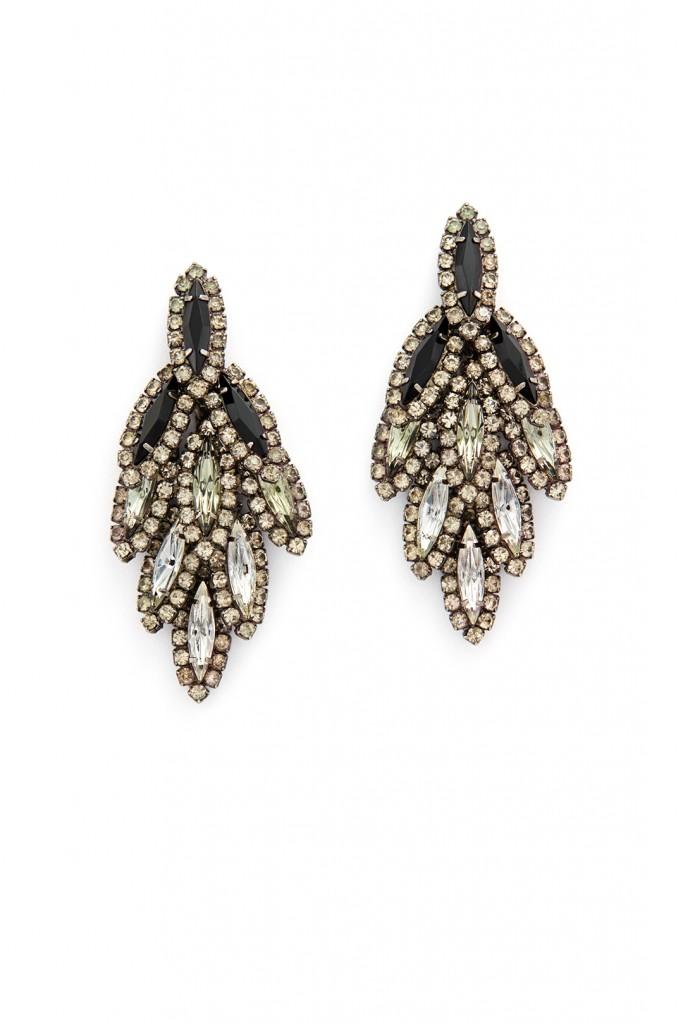 Jet Ombre Bacall Earrings