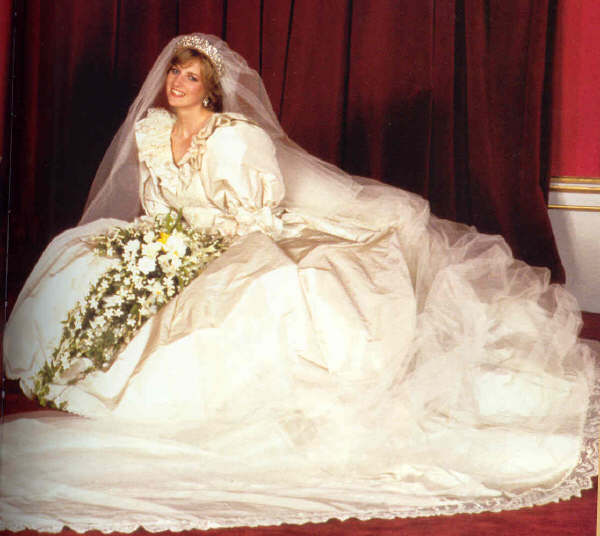 Lady Diana on her wedding