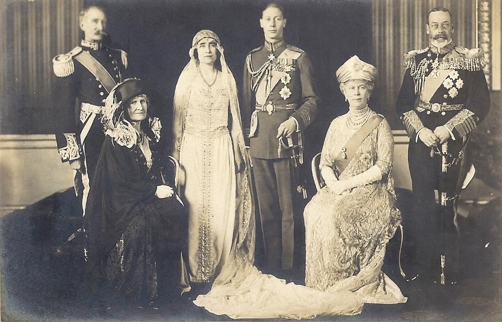 Lady Elizabeth Bowes on her wedding