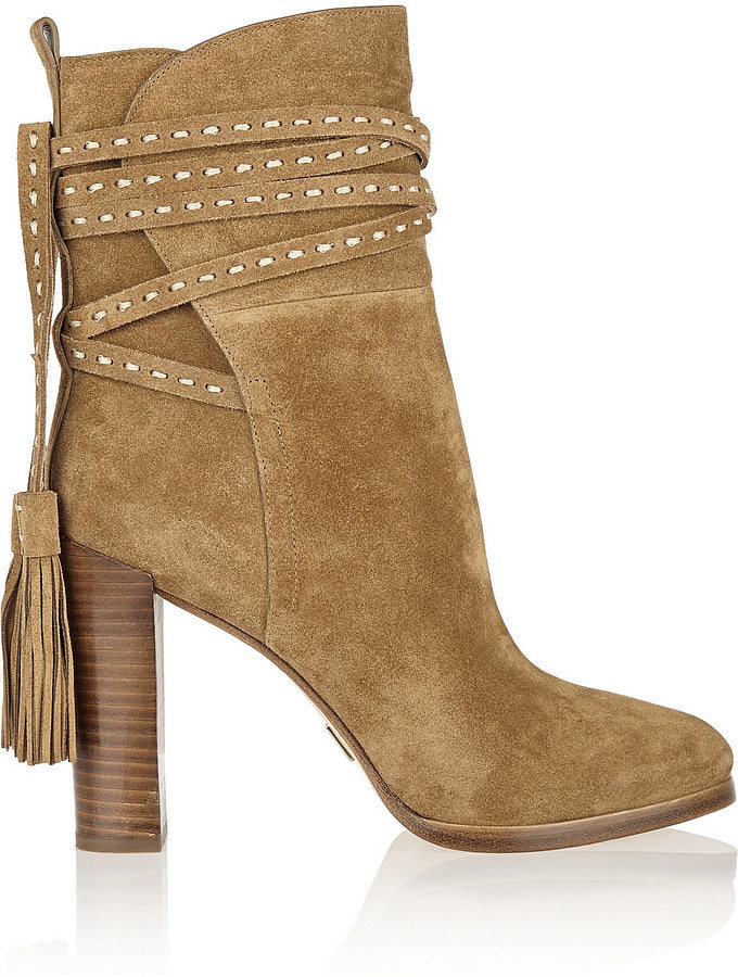 Michael Kors Tasseled Suede Ankle Boots