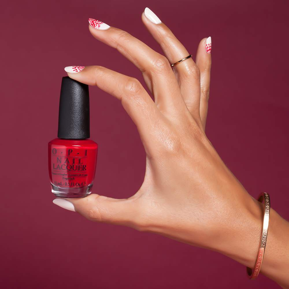 OPI - Venice Collection - Venice Nail Art Lace - nail art visual 1