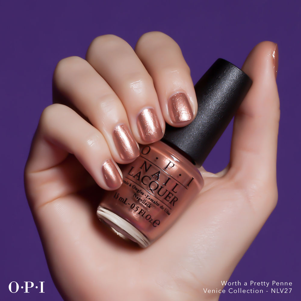 OPI - Venice Collection - Worth A Pretty Penne - hand visual - AED49