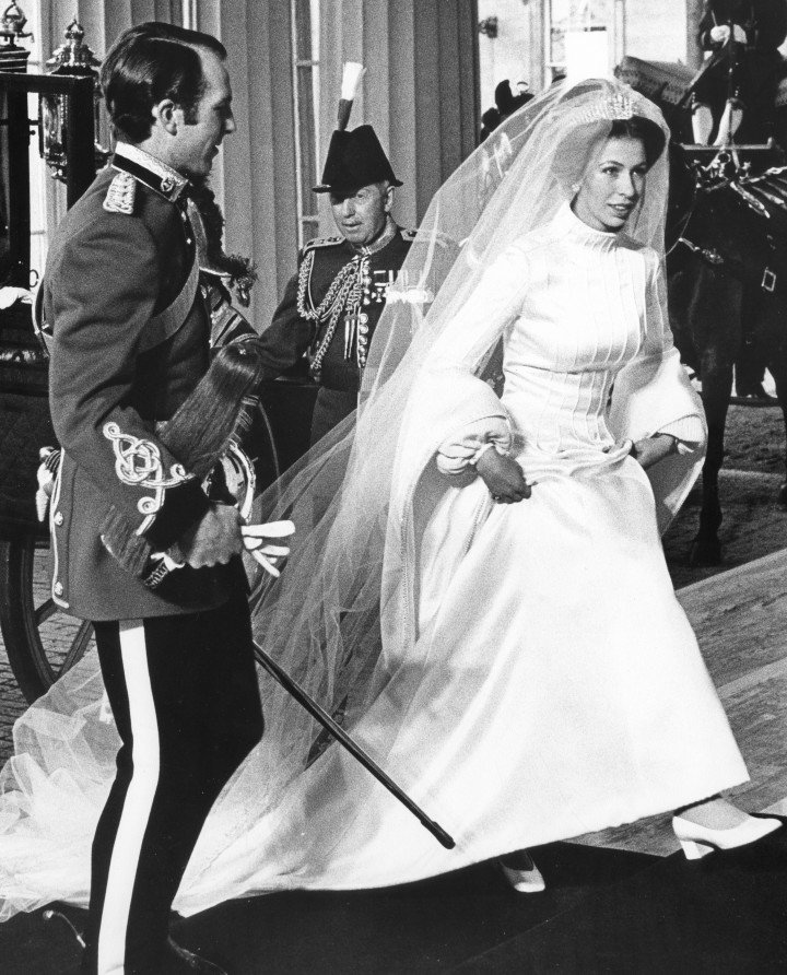 Princess Anne on her wedding day in 1973