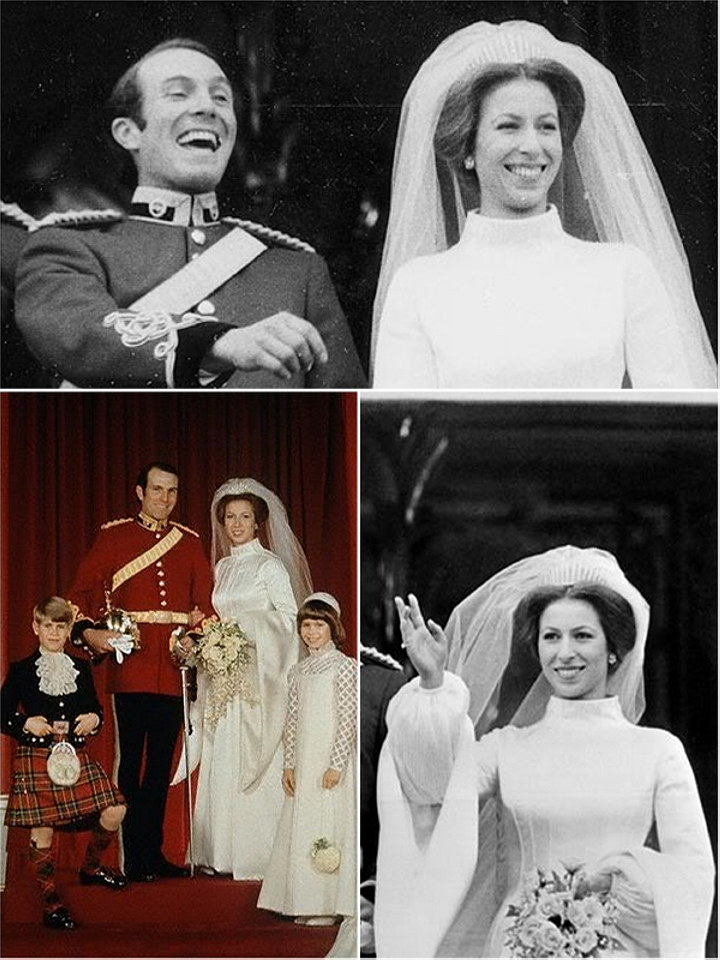 Princess Anne on her wedding day in 19733