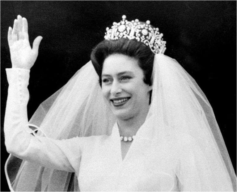 Princess Margaret on her wedding 1